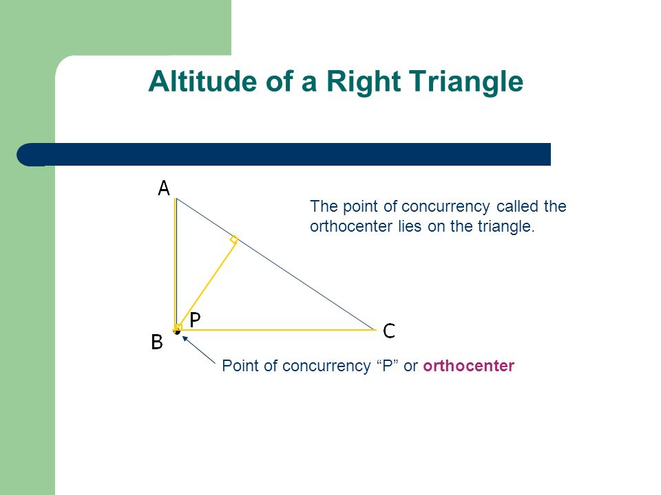 GEOMETRY Medians and altitudes of a Triangle - ppt download