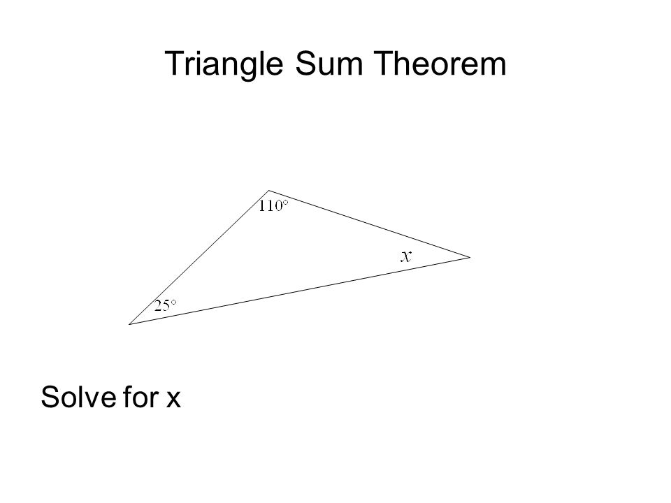 Triangle Sum Theorem Solve for x