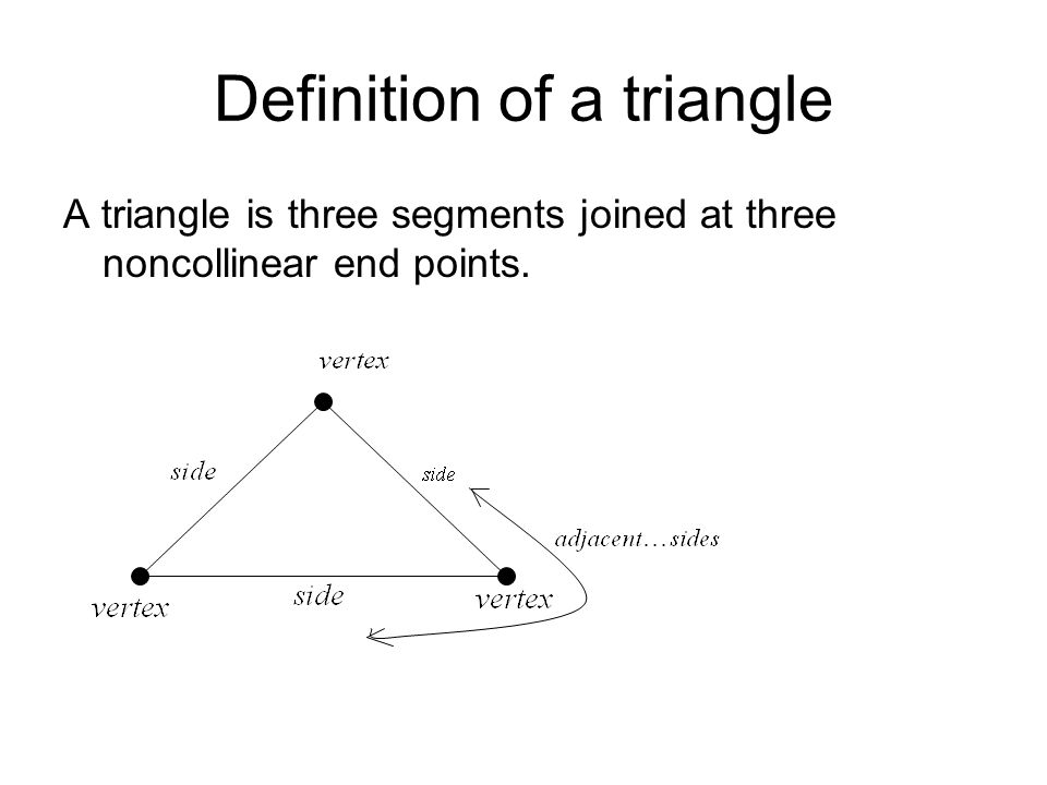 Definition of a triangle