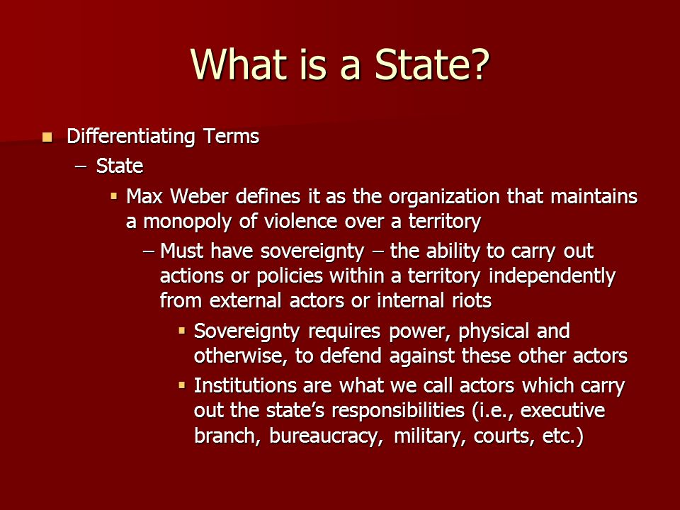 What is a State Differentiating Terms State