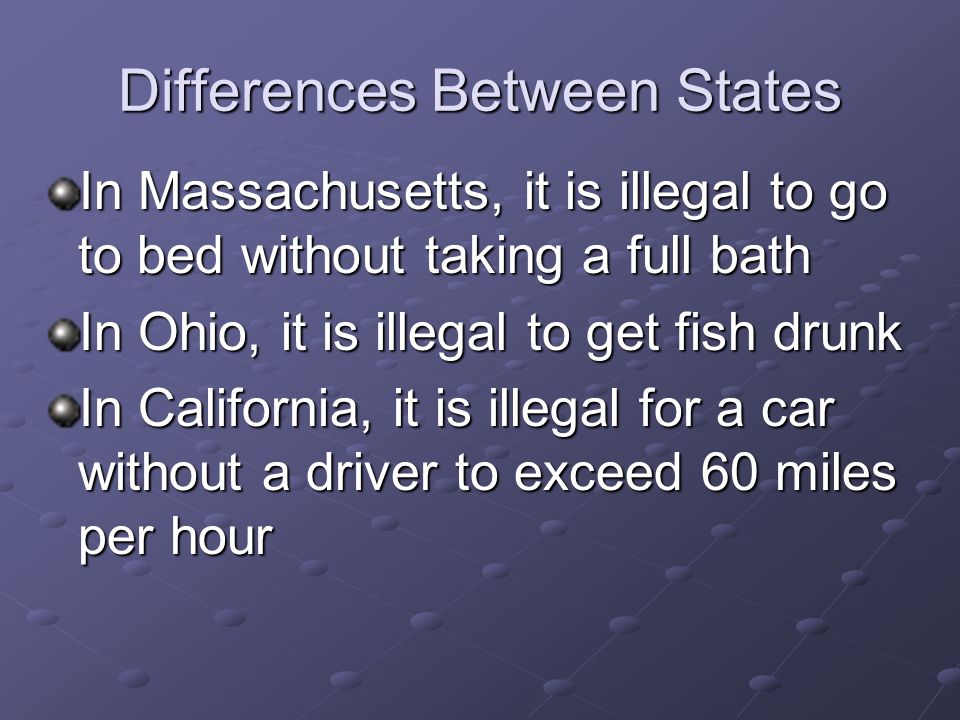 Differences Between States