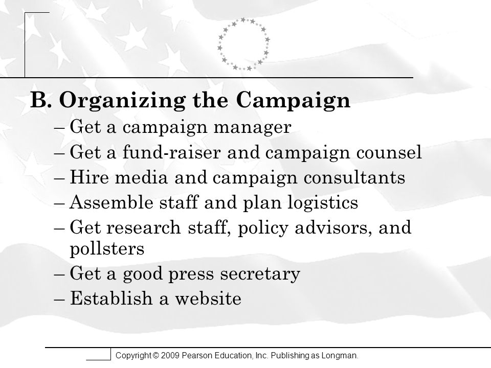 B. Organizing the Campaign