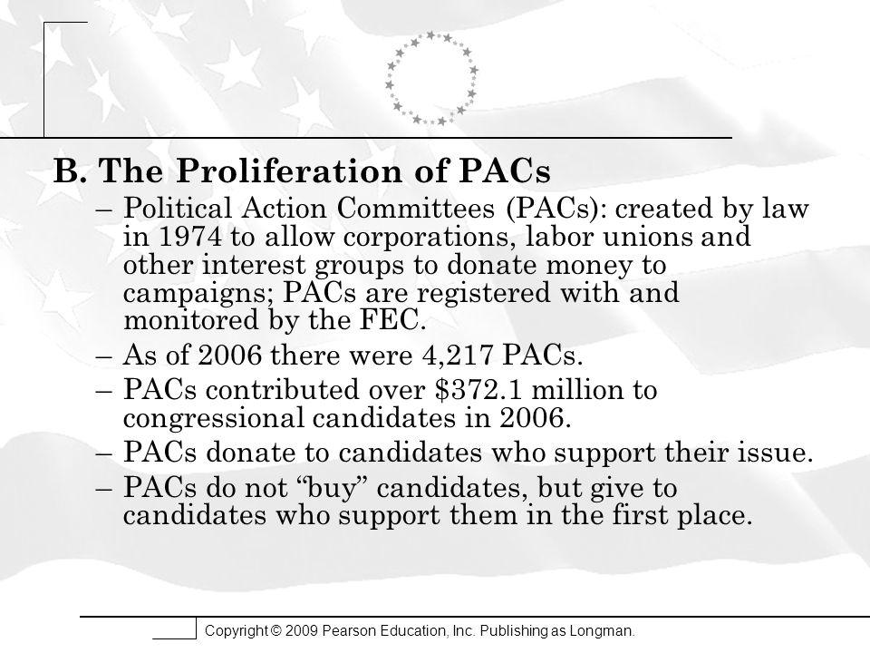 B. The Proliferation of PACs