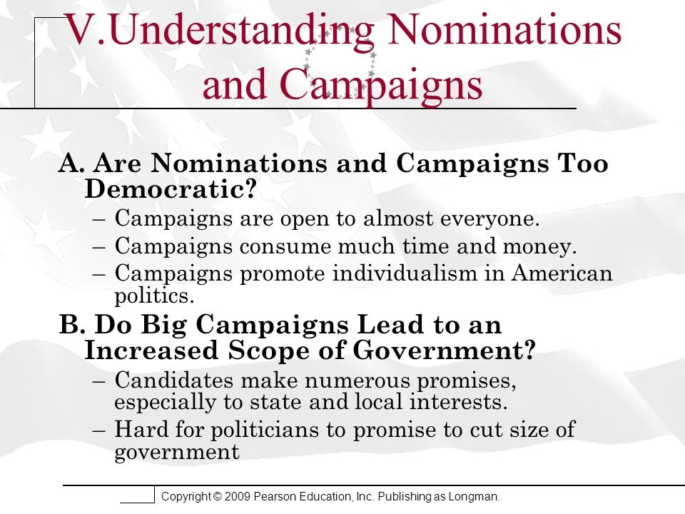 V.Understanding Nominations and Campaigns
