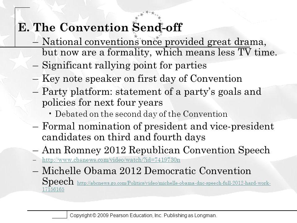 E. The Convention Send-off