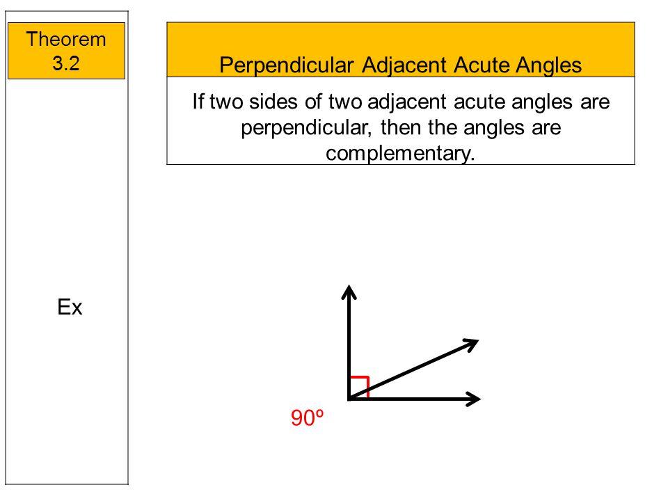 Perpendicular Adjacent Acute Angles
