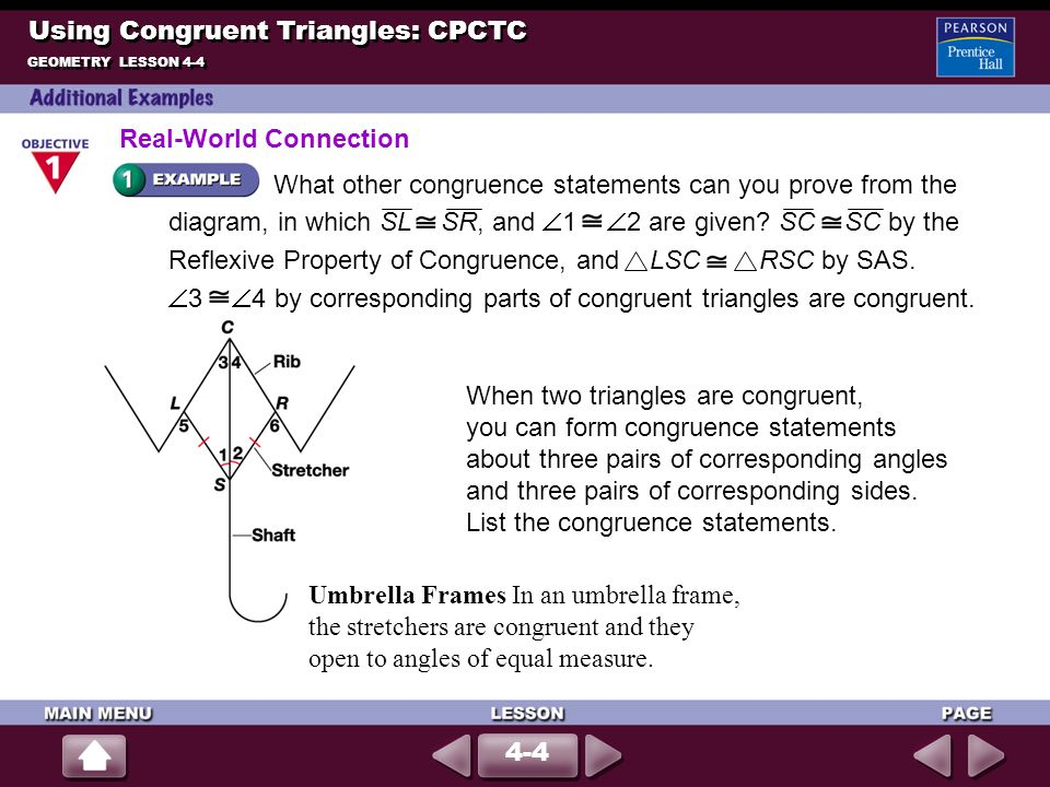 Using Congruent Triangles: CPCTC