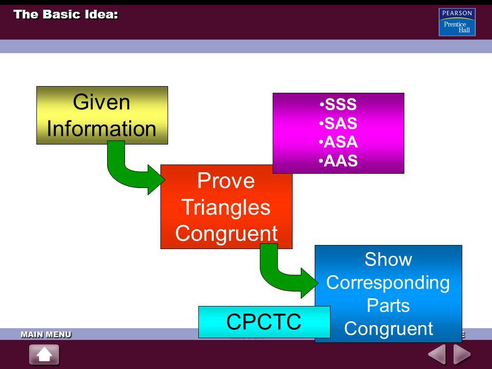 Prove Triangles Congruent