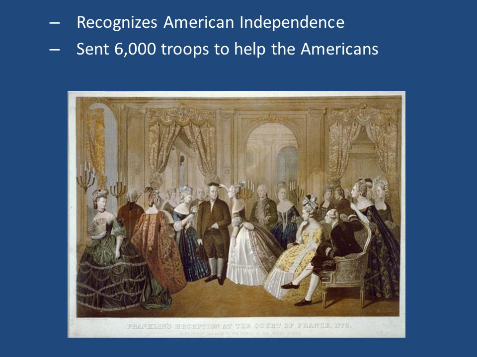 Recognizes American Independence