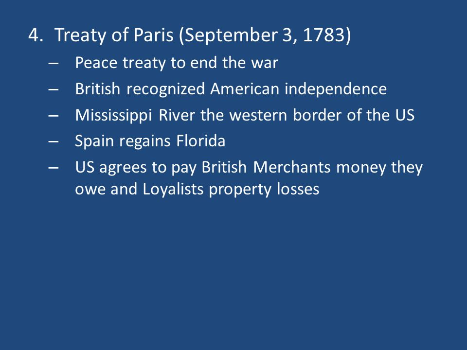 Treaty of Paris (September 3, 1783)