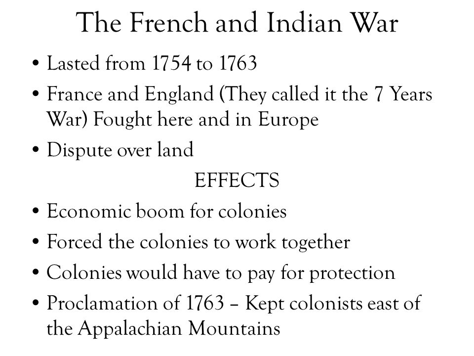 essay on the french and indian war Read this history other essay and over 88,000 other research documents the french and indian war the french and indian war begin in 1754 and end in 1763 the resulted in france's loss of all its.