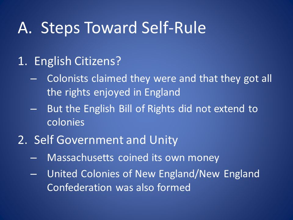 A. Steps Toward Self-Rule
