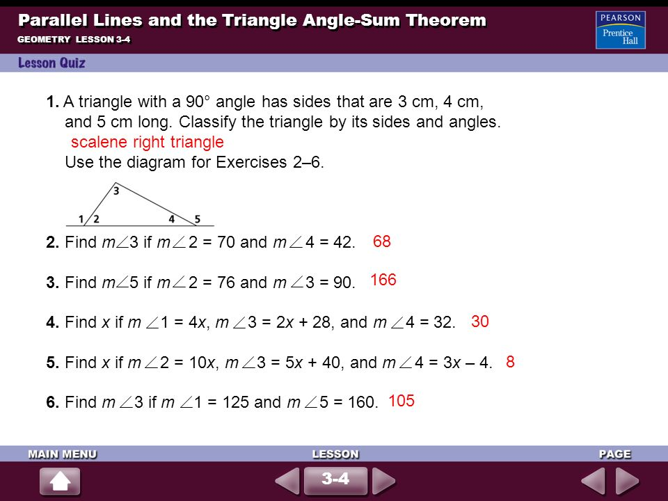 Parallel Lines and the Triangle Angle-Sum Theorem