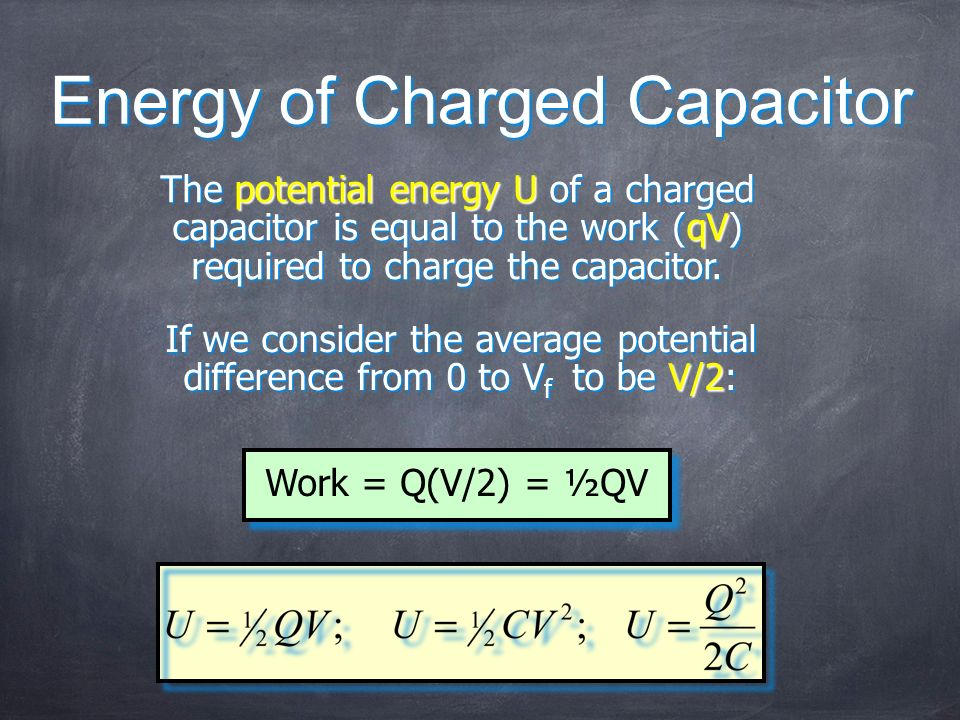 Energy of Charged Capacitor