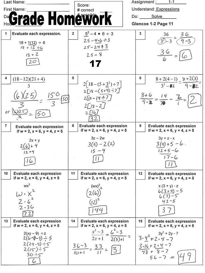 Grade Homework 17