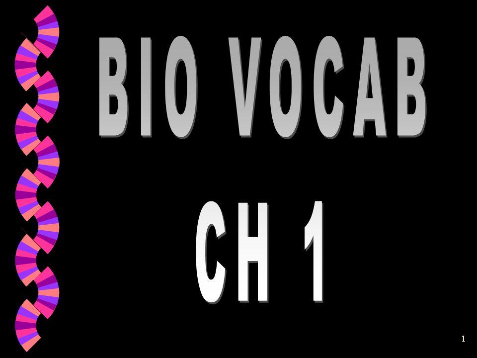 BIO VOCAB CH 1