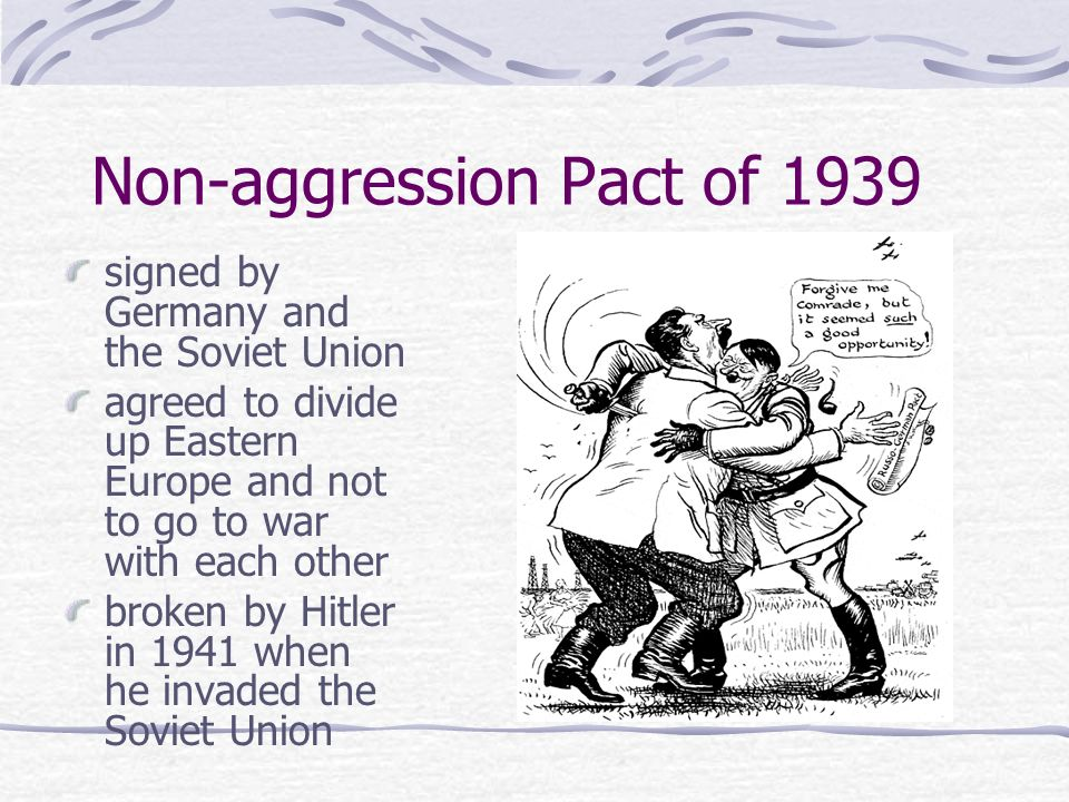 Non-aggression Pact of 1939