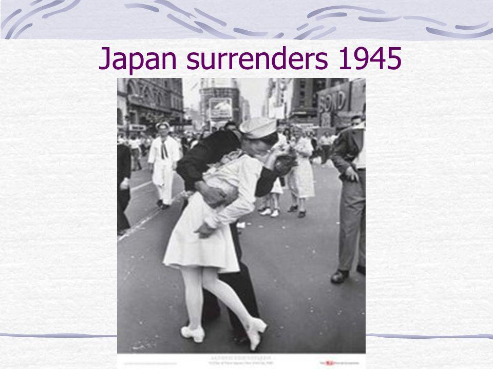 Japan surrenders 1945