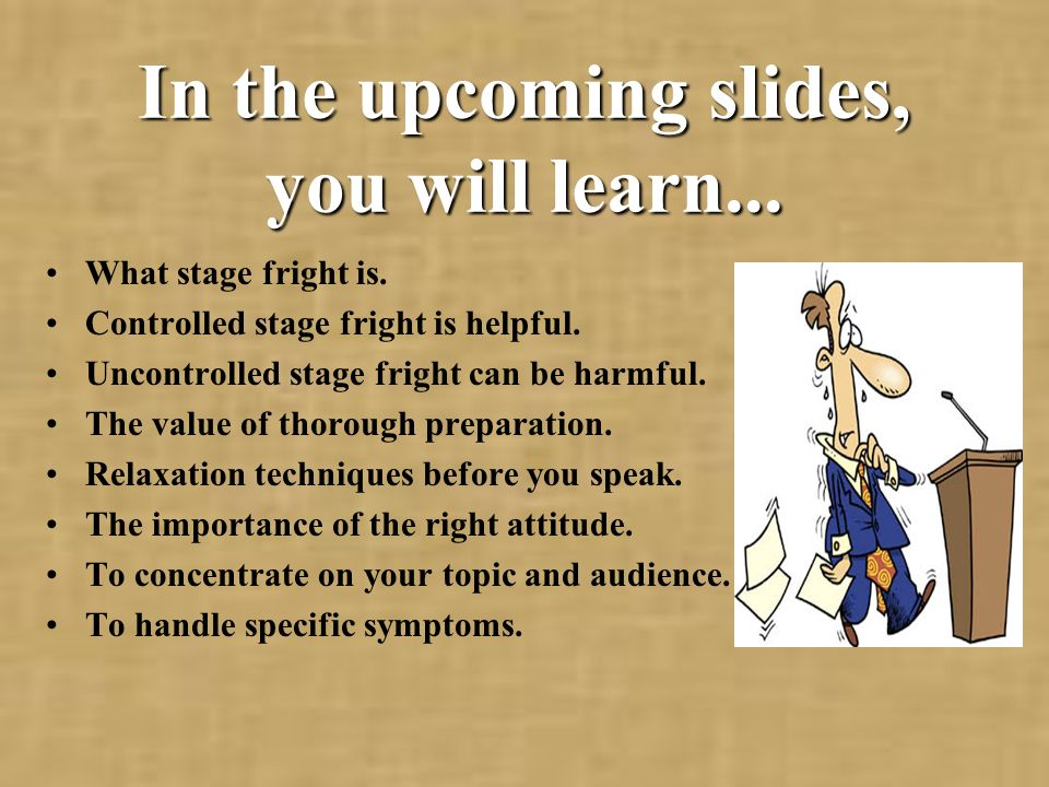In the upcoming slides, you will learn...