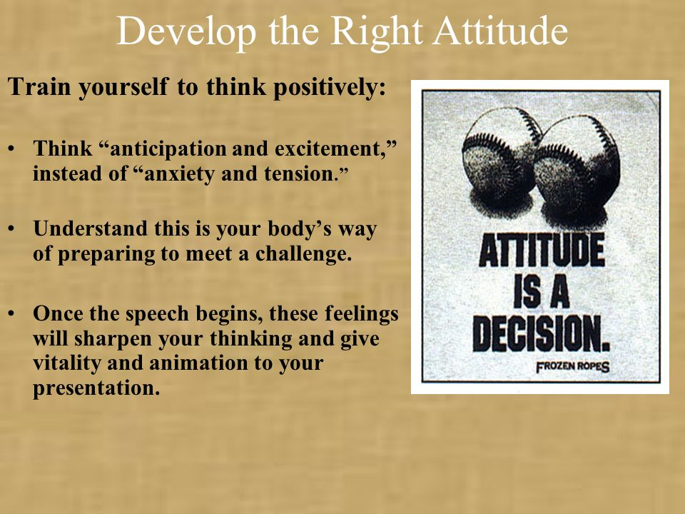 Develop the Right Attitude