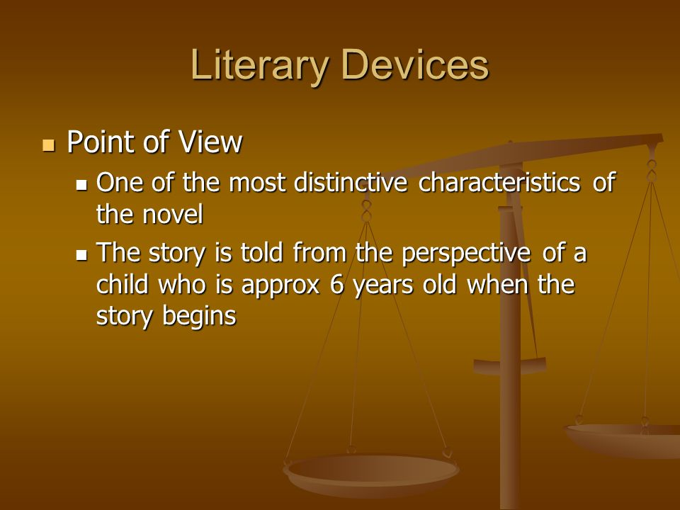 Literary Devices Point of View
