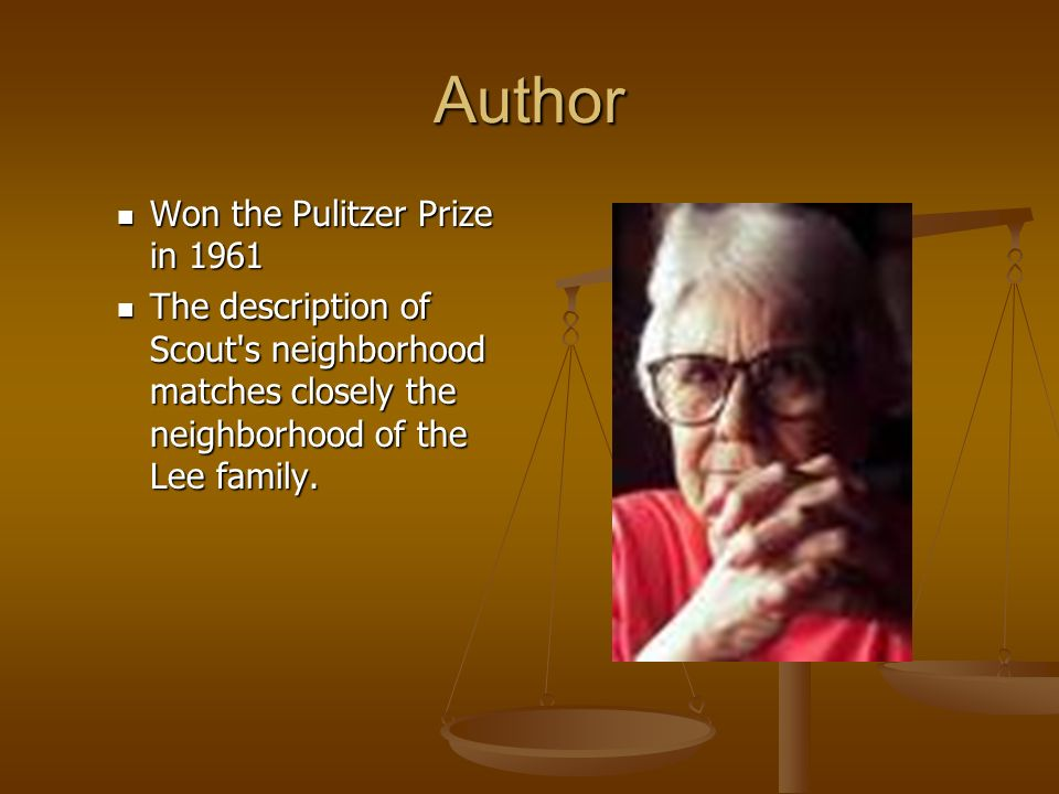Author Won the Pulitzer Prize in 1961