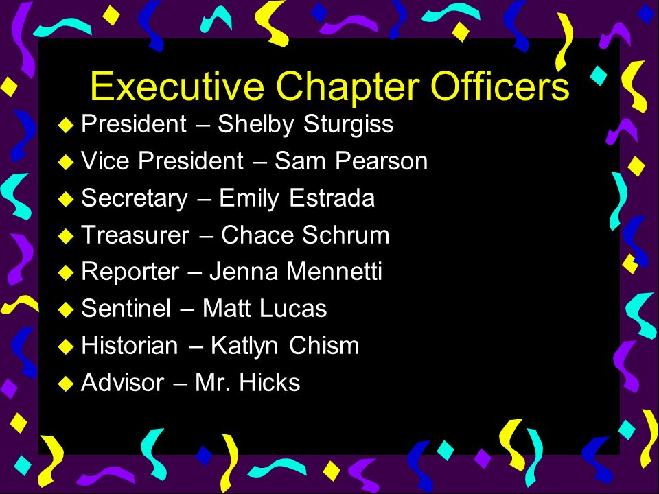 Executive Chapter Officers
