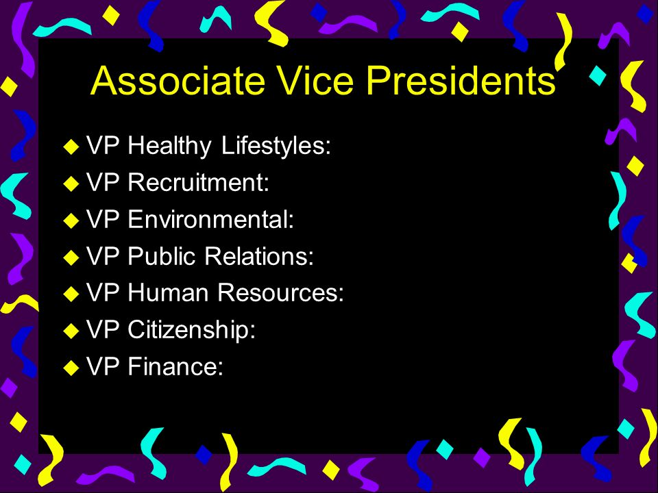Associate Vice Presidents