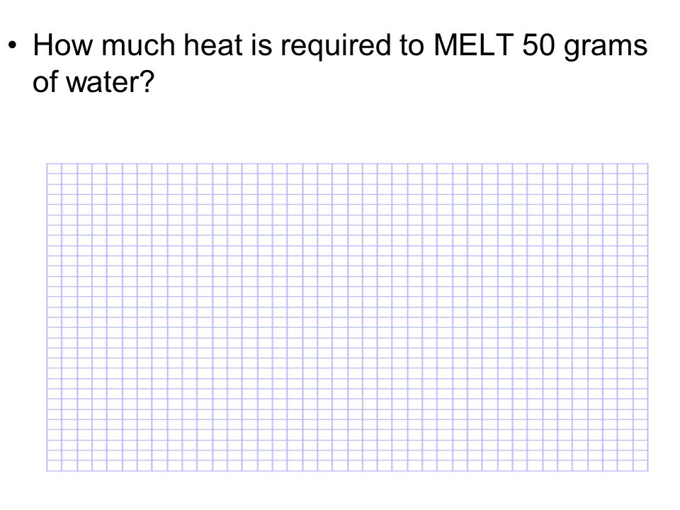 How much heat is required to MELT 50 grams of water