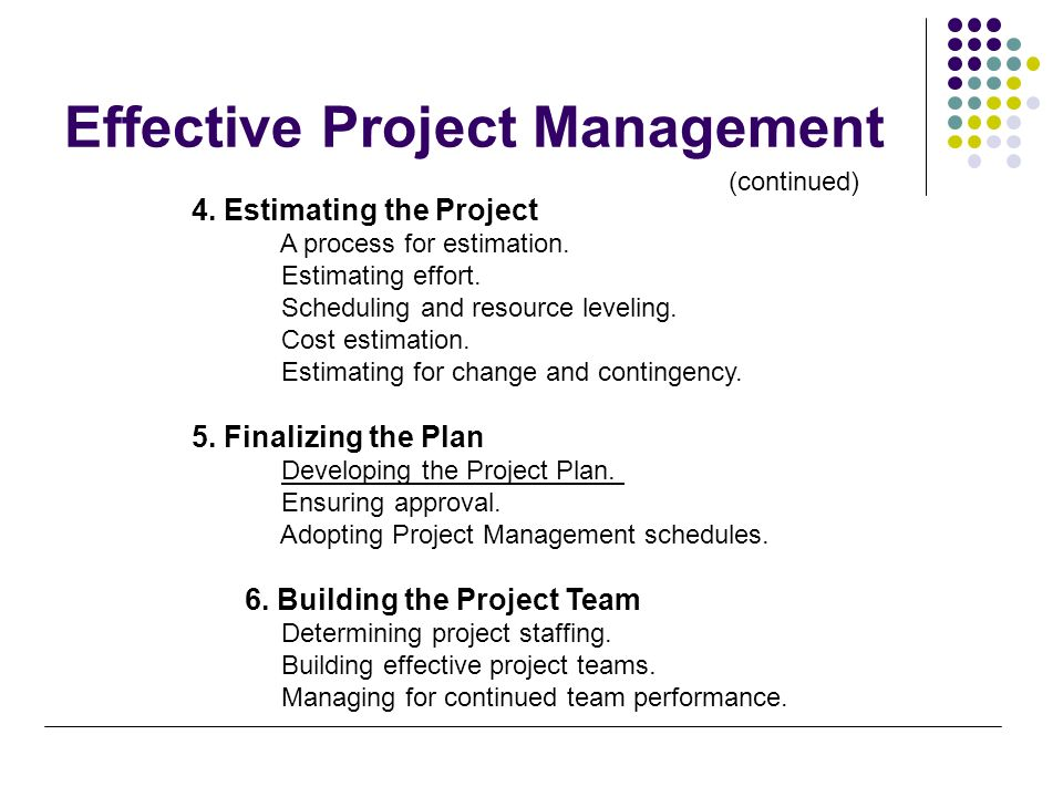 the process of gaining project implementation agreement Six phases of process improvement project and portfolio management  the six phases of process improvement are listed below  a plan for implementation needs to.
