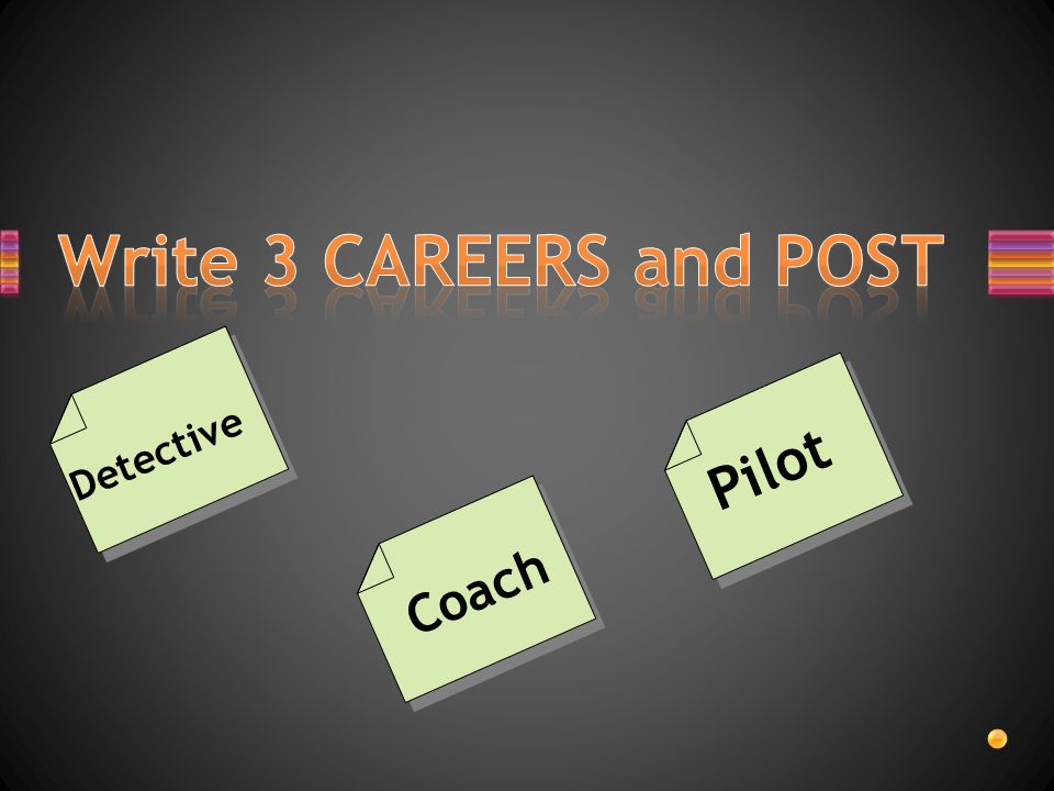 Write 3 CAREERS and POST Pilot Detective Coach