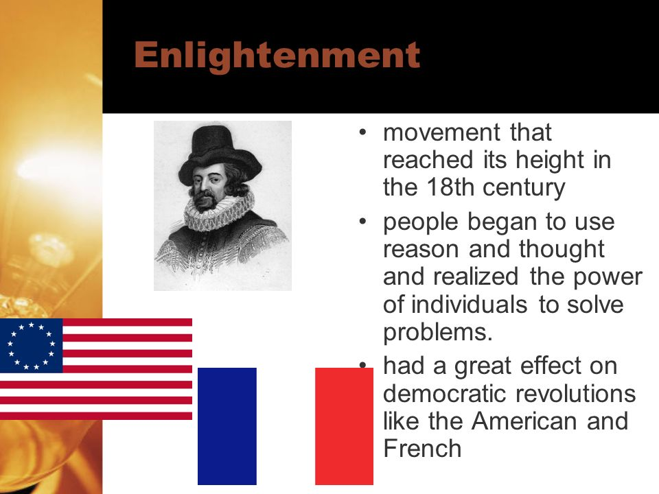 Enlightenment movement that reached its height in the 18th century