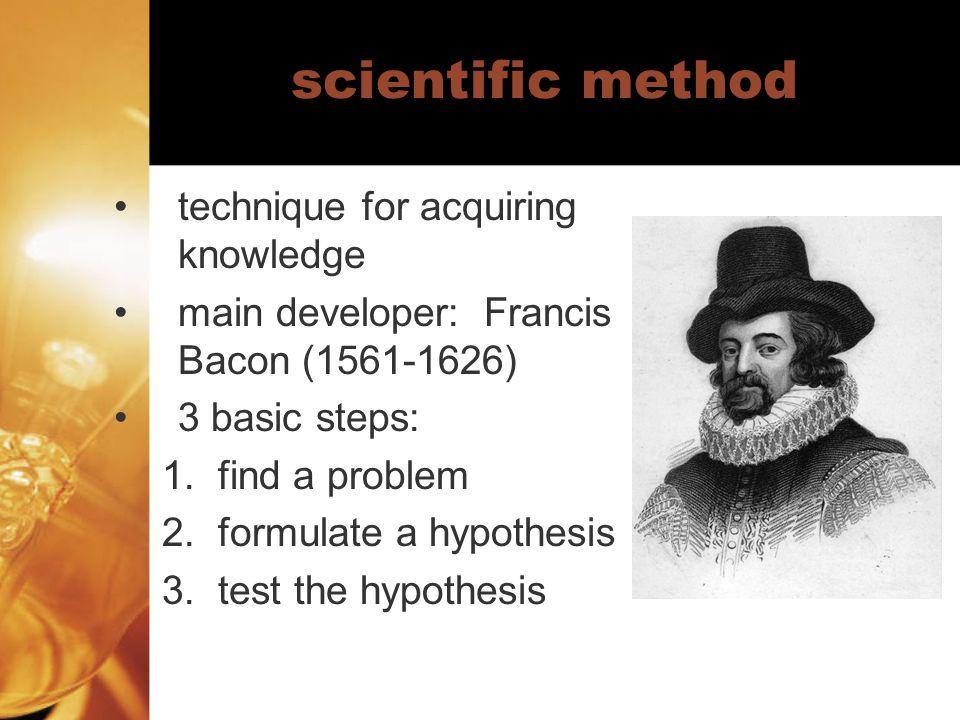 scientific method technique for acquiring knowledge
