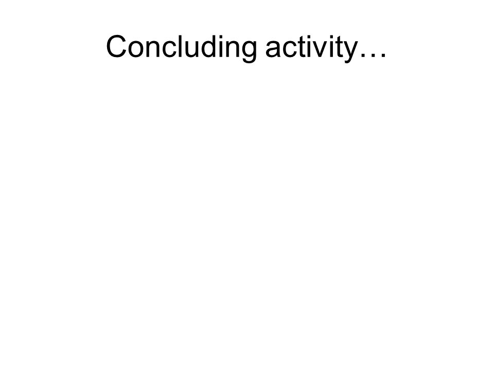 Concluding activity…