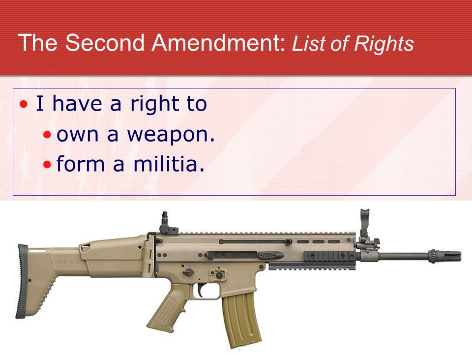 The Second Amendment: List of Rights