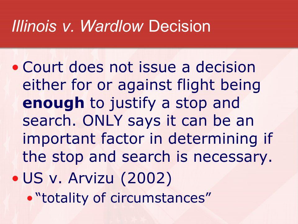 Illinois v. Wardlow Decision