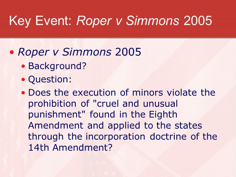 Key Event: Roper v Simmons 2005
