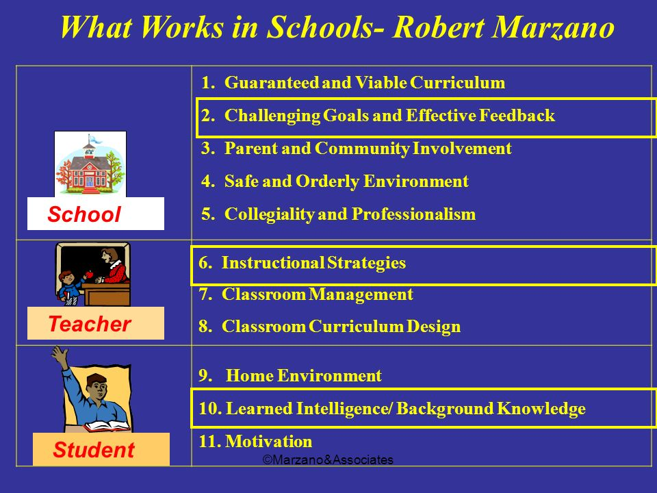 What Works in Schools- Robert Marzano