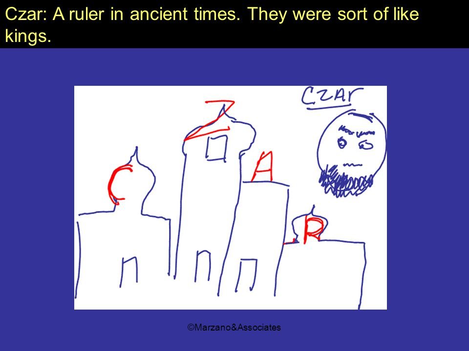Czar: A ruler in ancient times. They were sort of like kings.