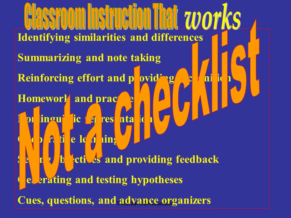 Classroom Instruction That