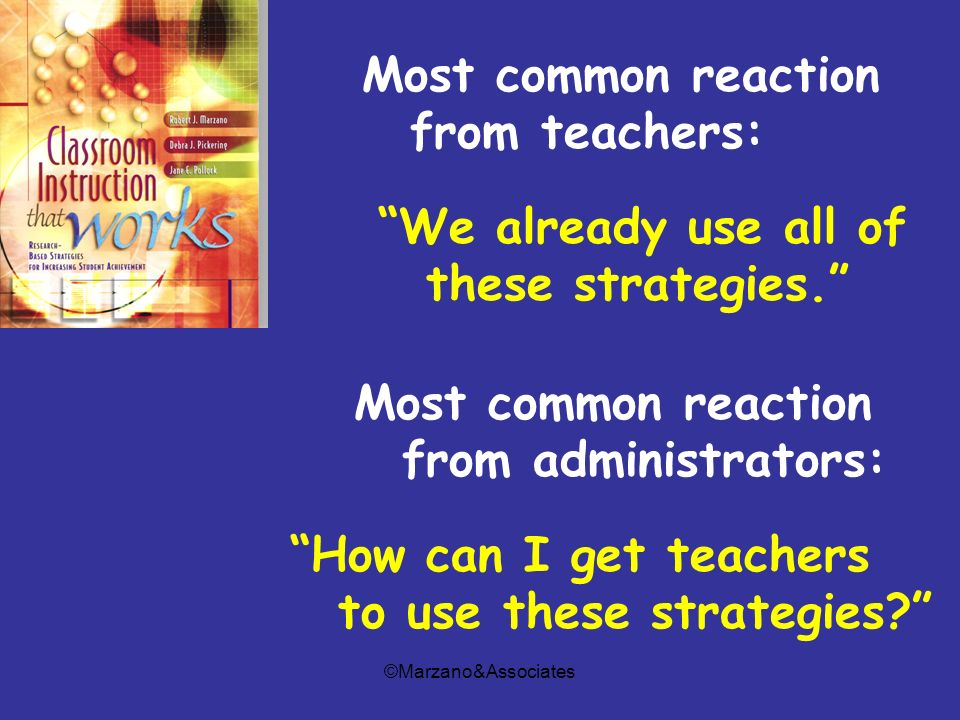 Most common reaction from teachers: