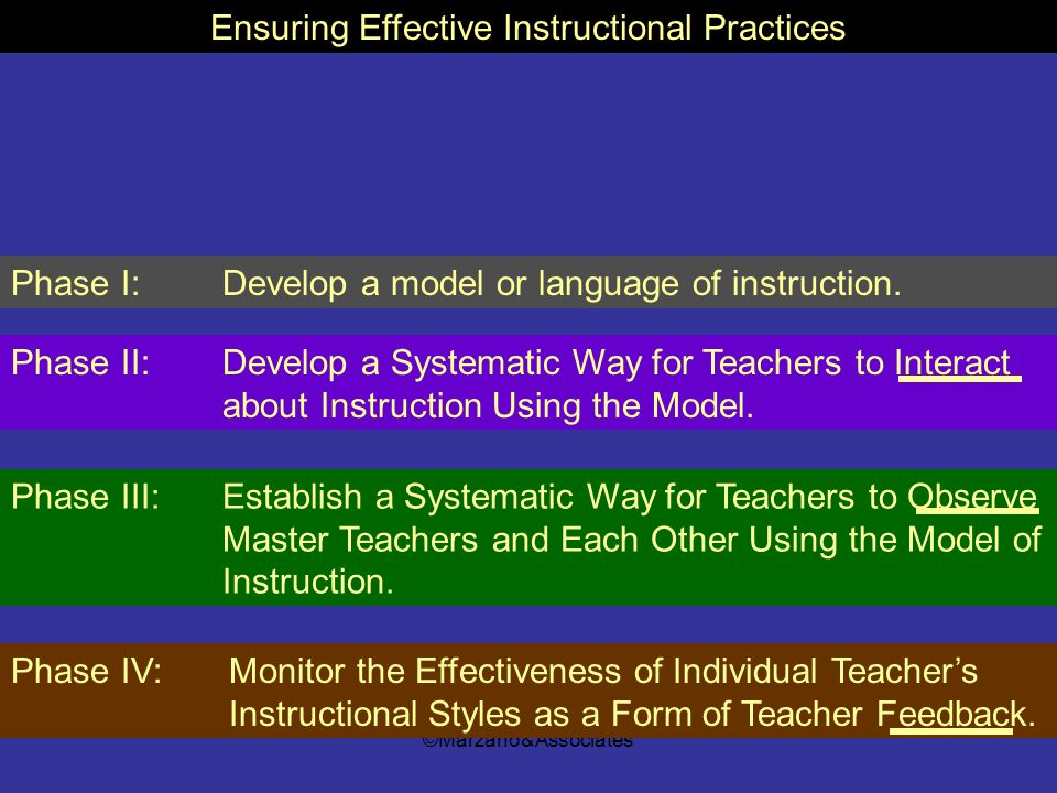 Ensuring Effective Instructional Practices