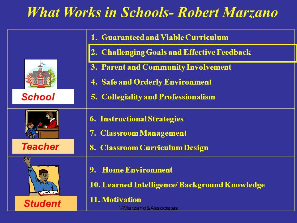 What Works in Schools- Robert Marzano