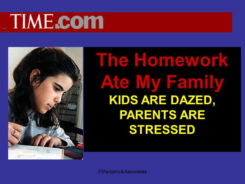 The Homework Ate My Family KIDS ARE DAZED, PARENTS ARE STRESSED BY ROMESH RATNESAR.