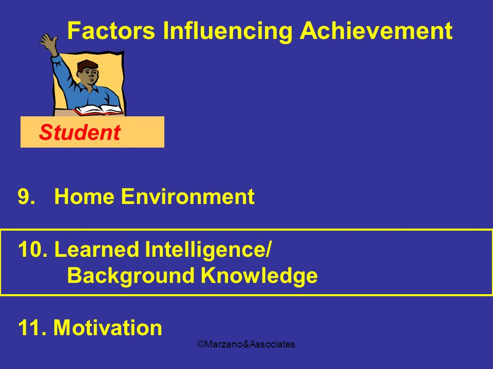 Factors Influencing Achievement