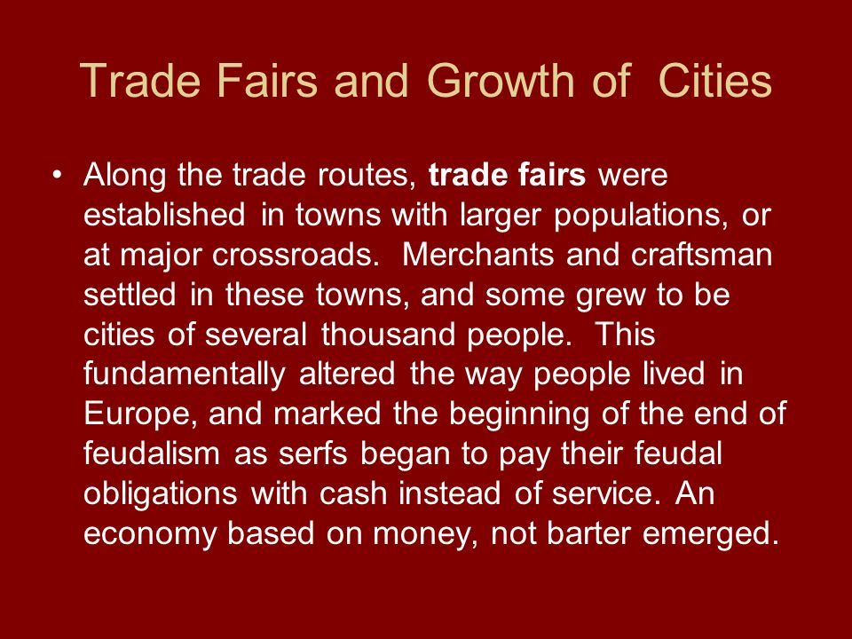 Trade Fairs and Growth of Cities