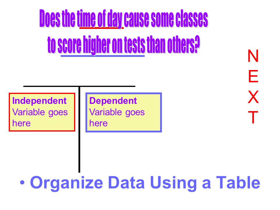 Organize Data Using a Table