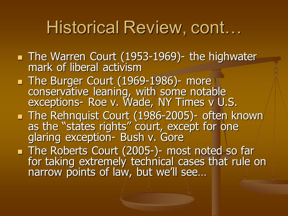 Historical Review, cont…