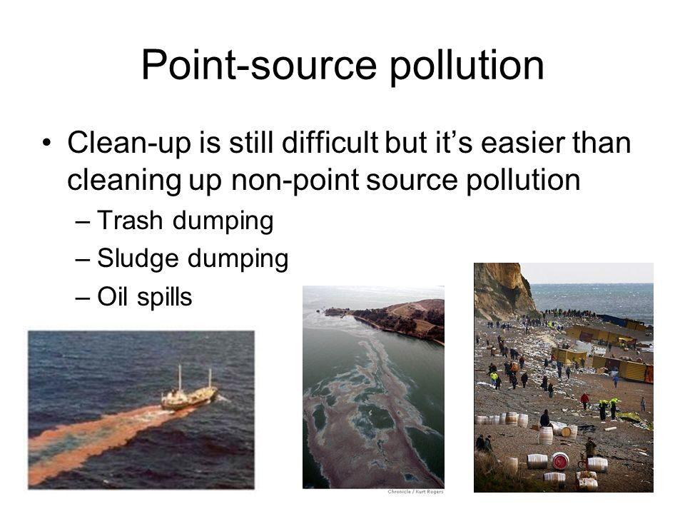 Point-source pollution