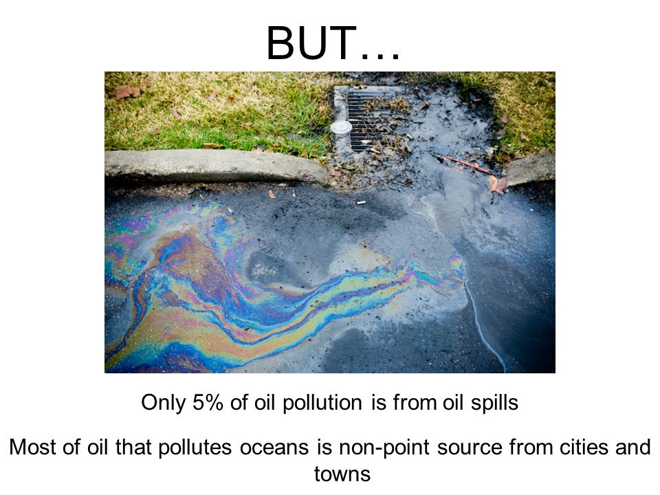 Only 5% of oil pollution is from oil spills